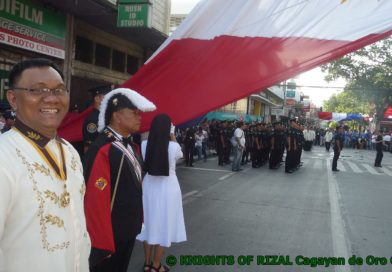 SIGHTS & SOUNDS OF CAGAYAN DE ORO CITY -We are the KNIGHTS OF RIZAL at tthe 121st Independence Day in Cagayan de Oro City Photo by Sir Dieter Sokoll