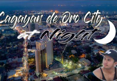 SIGHTS OF CAGAYAN DE ORO & NORTHERN MINDANAO - Cagayam de Oro Aerial Sot at Night
