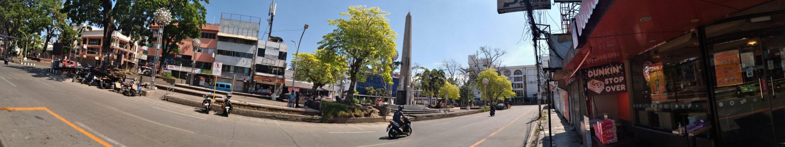 SIGHTS OF CAGAYAN DE ORO CITY & NORTHERN MINDANAO - Panorama of Divisoria in Cagayan de Oro City with Magsaysay Park