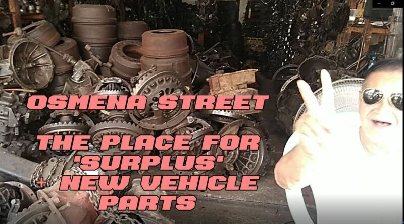 PHILIPPINE MAGAZINE - OSMENA STREET - The Place for Surplus and new Vehicle Parts Photo + Video by Sir Dieter Sokoll for PHILIPPINEN MAGAZINE